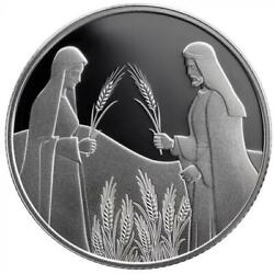 Israel Coin And Medal 2020 Bible Story Ruth In Boaz's Field Proof Silver