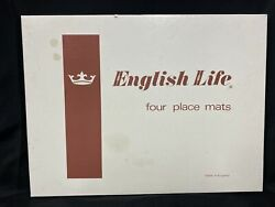 Vintage English Life Cork Backed Place Mats National Parks With Box Set Of 4