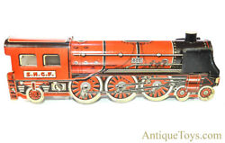 Memo Rare S.n.c.f Pacific Type 602 Steam Locomotive French Tin Litho Windup Toy