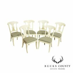 Ethan Allen Set 6 Painted Dining Chairs