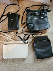 lot of 4 Crossbody Purses. Crossbody Wallet. Pre owned great condition. $50.00