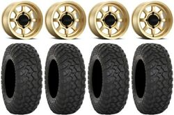 Method 410 14 Gold Wheels 28 Rt320 Tires Can-am Renegade Outlander