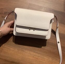 Marni medium trunk white pink bag with flaw $650.00