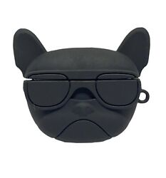 Cool Black Dog Airpods Pro 3 Gen Carry Case Bulldog With Sunglasses Protective