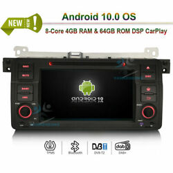 Android 10.0 Car Radio Stereo Wifi Gps Sat Nav For Bmw 3er E46 M3 Mg Zt Rover 75