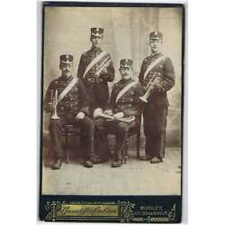 Cabinet Card Victorian Bandsmen By Bancroft And Crabtree Of Burnley Nelson And Bacup