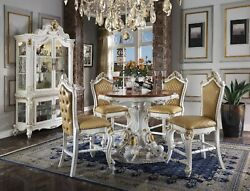 Acme Furniture Picardy Antique Pearl 5 Piece Counter Height Dining Room Set