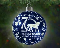 Breyer Horses 70th Anniversary Lighted Glass Ball Ornament