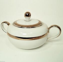 Hutschenreuther Selb Turvel The Puritan China Lidded Sugar Bowl