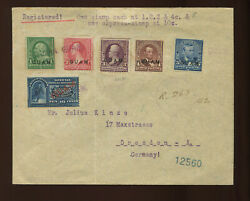 Guam Scott 1-5 And E1a Stamps On Registered Special Delivery Cover To Germany
