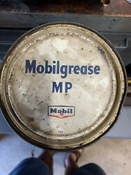 Vintage Advertising 5lb Mobil 5 Grease Can Mobilgrease Mp Military