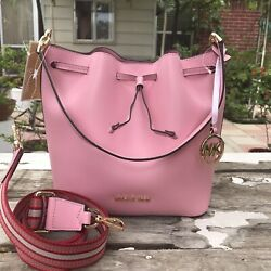 New Michael Kors Leather Crossbody Shoulder Satchel Messenger Purse Handbag $115.00