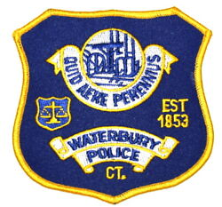 Waterbury Connecticut Ct Sheriff Police Patch Scale Of Justice