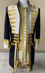 Pirates Of The Caribbean Admiral General Officers Overcoat Frock Jacket Coat