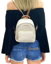 MICHAEL KORS ERIN SMALL CONVERTIBLE BACKPACK MK SIGNATURE VANILLA $139.00
