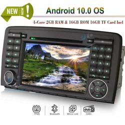 7android 9 Car Radio Bt Wifi Dvd Stereo Gps Nav For Mercedes Benz R350 R500 R63