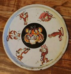 Vintage Esso Exxon Gas 13 Tin Metal Beer Serving Tray Tony Tiger In Your Tank