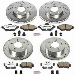 Power Stop Front And Rear Z26 Street Warrior Brake Kit For 94-98 Ford Mustang