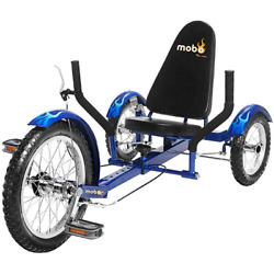 Mobo Triton The Ultimate Youth Three Wheeled Blue Cruiser W/ Caliper Hand Brakes
