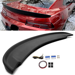 Matte Black For 2014-2015 Chevy Camaro Ss Factory Z28 Blade Style Spoiler Wing