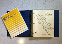 Atari Dealer 400 800 Home Computer Field Service Manual With Best Catalog