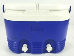 Igloo Cooler Vintage 2 Beverage Tanks Plastic Rare Collector Made in U.S.A. $53.00
