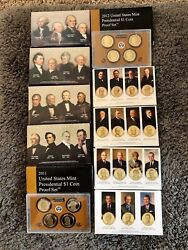 2007-2016 Us Mint Presidential 1 Coin Proof Sets