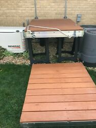 Boat Dock 4and039x8and039 Playstar Aluminum Frame With Wood Decking.