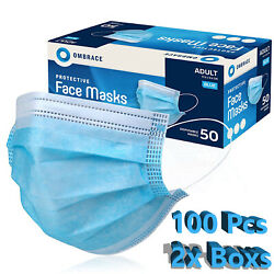 100 Pcs Face Mask Mouth And Nose Protector Respirator Masks With Filter Usa Seller