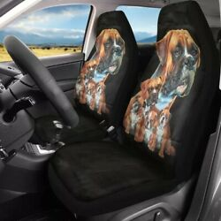 Boxer Dogs Car Seat Covers 2 Pc Front Seats Only For Cartrucksuv Universal Fit
