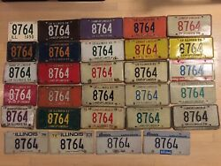 Lot 53 Il 8764 License Plate Sets 1950 1955 1956 1957 1958 Motorcycle 1959- Car