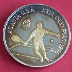 Romania 1996 Tennis Olympic Games 100 Lei Silver Proof Pattern