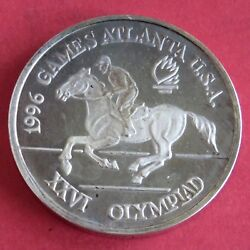 Romania 1996 Equestrian Olympic Games 100 Lei Silver Proof Pattern