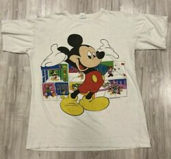 Vinatage Mickey Mouse Toons Adult T-shirt For Men Tshirt Very Rare In 1990and039s