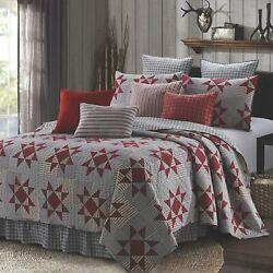 Virah Bella Collection Phyllis Dobbs Carolina Red Polyester Full/queen Quilt Bed