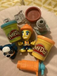 Play-doh Set Construction Worker Dog Hydrant 3 Colours Play Doh Kids Toys