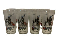 8 Vintage Drinking Glasses Kentucky Derby Churchill Downs Mint Julip May 1990