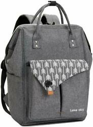15.6quot; Laptop Computer Tablet Backpack Business School Travel Women Bag Grey NEW $44.99