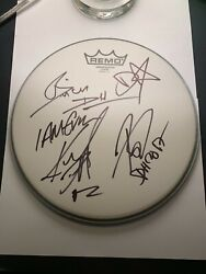 Diamond Head Signed Autographed 10and039 Remo Drumhead Brian Tatler X4 I Am Evil