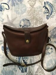 Vintage Coach Mahogany Nottingham Binocular Springlock Crossbody Bucket Bag USA $49.99