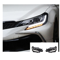 For Toyota Mark X Led Headlights Led Drl 13-17 Replace Oem Headlight Sequential