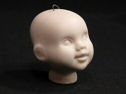 Vintage Bisque Porcelain Doll Head With Wire Loop 1 7/8 Flange Style Untinted