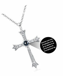 Cross Projection Necklace for Women Men Bible Lord#x27;s Prayer Cross for $41.64