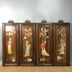 20and039and039 Chinese Antique Wood Screen Natural Yellow Rosewood Screen Beauty