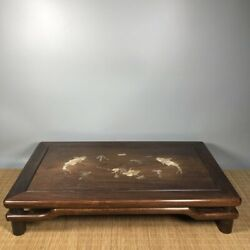 24and039and039 Chinese Antique Wood Table Natural Yellow Rosewood Wood Small Table