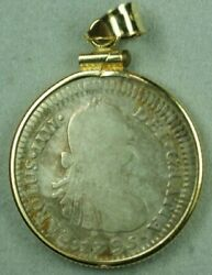 1795 1 Real Coin Bolivia Mint In 18k Gold Bezel