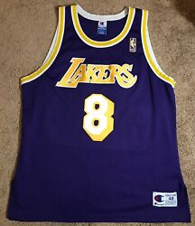 Kobe Bryant 1996-97 Los Angeles Lakers Authentic Rookie Jersey Champion Sz 48