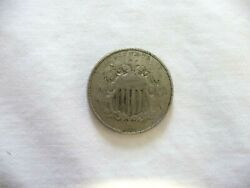 1866 Shield Nickel With Rays Variety 1 Better Date Better Grade Collector Coin