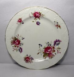 Paragon China Rosealee Scalloped Round Chop Plate Serving Platter - 12-5/8