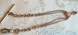 Victorian Antique Gold Filled Simmons Slide Watch Chain Bracelet 8 Inch